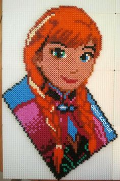 Anna Frozen Disney hama perler beads by Deco.Kdo.Nat