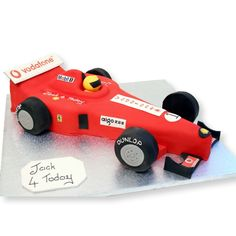 Racing Car Cake freshly made, delicious and delivered