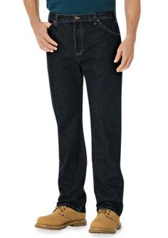 Dickies Blue  ular-Fit Straight Leg 6-Pocket Pants