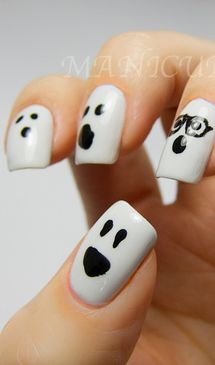 Ghost Nail Art.. For the girls