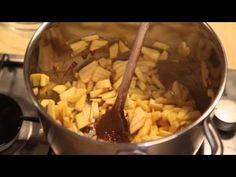 Karamellás almalekvár készítése Koronás Befőzőcukorral