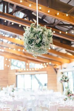 baby's breath chandeliers | Brooke Images #wedding