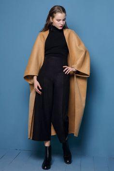 Oversized Wool Blanket Coat in Maxi or Midi