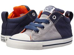 CONVERSE Chuck Taylor All Star Axel Mid Infant Kids Trainer Grey/ Navy
