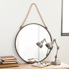 Espejo de metal D. 60cm BLAKE RUSTY