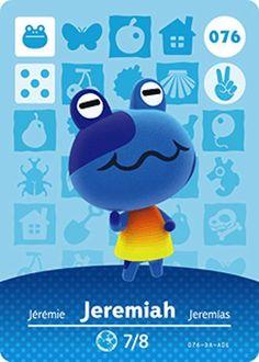Nintendo Animal Crossing Happy Home Design Jeremiah Amiibo Card 076 USA Version #Nintendo