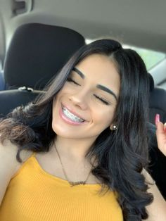 , - White smile with braces - Cute Girls With Braces, Cute Braces Colors, Baddie Hairstyles, Cute Hairstyles, Braces Tips, Brace Face, Teeth Braces, White Smile, Natural Teeth Whitening