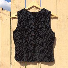 vintage velvet vest • cute & cool little black velvet vest • vintage in excellent condition • buttons down the front • perfect alone as a summer crop top or worn over an oversized t-shirt • women's s/m • Vintage Tops Crop Tops
