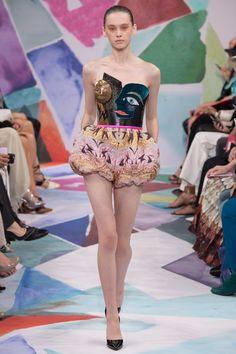 Schiaparelli Fall 2016 Couture Fashion Show - Sasha Belyaeva