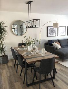 Home Room Design, Dining Room Design, Interior Design Living Room, Dinning Room Ideas, Modern Room Design, Interior Livingroom, Family Room Design, Apartment Interior, Dining Area