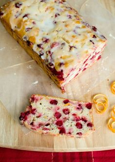 Cranberry orange bread - Sweet and tart, perfect for a holiday treat.