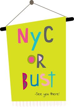 Headed to NYC tomorrow for the first time EVER! Soooo excited!