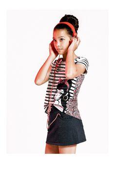 Vêtements enfant IKKS : look pour adolescente, junior fille #SS14 #IKKS
