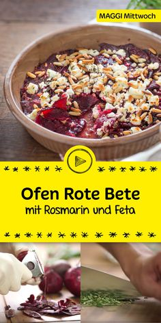 Mit Roter Bete gibt es viele feine Rezepte zum Nachkochen. Heute präsentieren wir den Ofen-Rote-Bete-Auflauf mit Rosmarin und Feta. Wir erklären dir Schritt für Schritt was zu tun ist, bis du es schließlich genießen kannst. Viel Spaß damit.