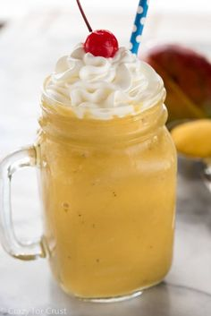 This Mango Julius is like a mango smoothie and a mango milkshake all in one!