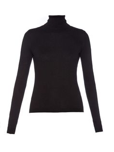 REDValentino Roll-neck silk and cashmere-blend sweater