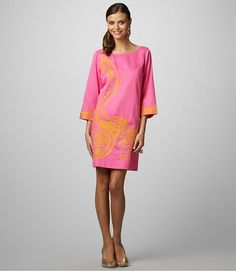 Pink and orange dress from Lilly Pulitzer.