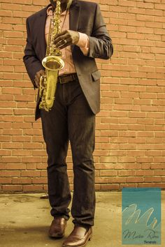 Saxophone in an alley with an old school filter