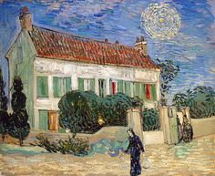 """Vincent Van Gogh """"The White House at Night"""", oil on canvas, June, 1890"""