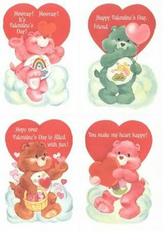 AWHHHHHH❣ This was the Valentine's Day Card my grandparents gave me in the mail & I was Soo Happy ❤❤ Bear Valentines, Funny Valentine, 1980s Childhood, Childhood Memories, Vintage Valentine Cards, Vintage Cards, Sunshine Bear, Care Bears Vintage, Bear Coloring Pages