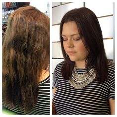 Freshened up this beautiful girl's color today! I told her we created the perfect kaylin brown! 5N 3NB 4N all pm shines! I love them shines! #pmshines #brunette #paulmitchell #pmtsmboro #pmtslife #superskinny