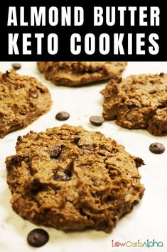 Almond Butter Sugar-Free Keto Cookies. Quick and Easy Paleo, Low Carb and Gluten-Free Recipe #lowcarb #keto #almondbutter #lowcarbalpha