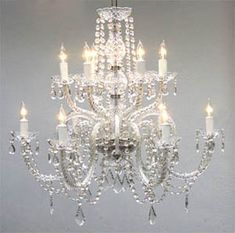 A46-385/6+6  Murano Venetian Style CHANDELIER Chandeliers, Crystal Chandelier, Crystal Chandeliers, Lighting