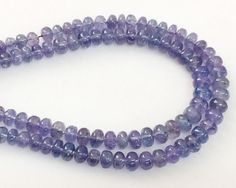 Tanzanite Beads Natural Tanzanite Plain Rondelles by gemsforjewels