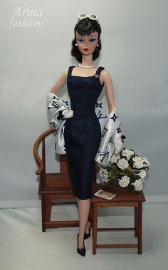 Navy Blue Dress & Louis Vuitton