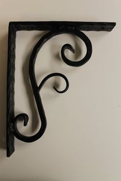 Large Hammered S Flare Floral corbel by Scrollworksiron on Etsy, $53.00