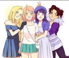 Ino, Sakura, Tenten e Hinata    Naruto