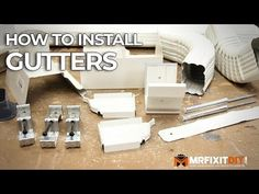 Learn about all the different types of gutters you can choose for your home. Gutters are a very important home feature that helps protect your home from water damage. The gutters and features you choose can help protect your home from water damage. Painting Gutters, Diy Guide, Diy Gutters, How To Install Gutters, Building A Chicken Coop, Diy Home Repair, Home Upgrades, Home Repairs, Mobile Home