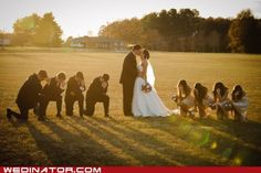 Haha... I was going to put this in the wedding board... but it was just too football :)