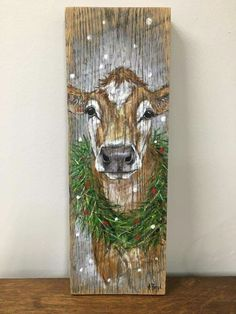 christmas art 44 Super Ideas For Painting Wood Art Posts Christmas Signs, Christmas Art, Christmas Projects, Holiday Crafts, Christmas Decorations, Holiday Decorating, Painting On Pallet Wood, Wood Painting Art, Wood Pallet Art