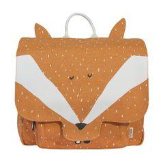Trixie Baby-Trixie Baby - 25 × Mr fox Cotton Bookbag - 25 x Toddler Bag, Mini Mochila, Mr Fox, Fox Print, Diaper Bag Backpack, Animal Fashion, Kids Bags, Kids Backpacks, Scrappy Quilts