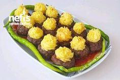 Patates Püreli Çanak Köfte Tarifi nasıl yapılır? 3.016 kişinin defterindeki bu tarifin resimli anlatımı ve deneyenlerin fotoğrafları burada. Yazar: Farklı Yemek Tarifleri