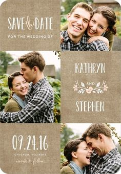 My Favorite SAVE THE DATE card