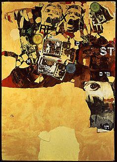 Wallace Berman, 'Papa's Got a Brand New Bag' (1964).  Mixed media collage. Collection of David Yorkin & Alix Madigan, Los Angeles.