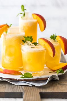 Peach Lemonade (Peach Cocktail or Nonalcoholic)