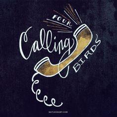 Four calling birds