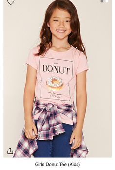 0a6c7a9621c64c Forever 21 Girls - A knit tee featuring a glitter donut graphic and