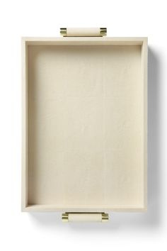"""Aerin Cream Shagreen Tray with brass hardware (sold out) 22"""" x 24"""" $325.00"""