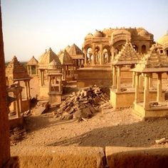 Bada Bagh is a garden complex about 6 km north of Jaisalmer on way to Ramgarh, and halfway between Jaisalmer and Lodhruva in the state of Rajasthan in India.