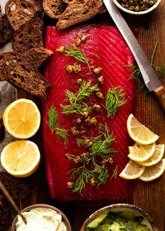 Seafood Recipes, Appetizer Recipes, Appetizers, Beetroot, Gin, Vodka, Salmon, The Cure, Recipetin Eats