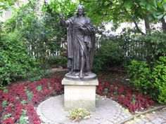 John Wesley statue at St Paul's Cathedral, London. I took my pic with him, like a good Methodist. Scotland Tours, Wesley Chapel, John Wesley, England And Scotland, Fountain, Garden Sculpture, Cathedral, Statue, London