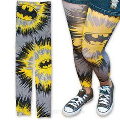 Batman Tie Dye Tights (Large)