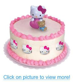 Hello Kitty Cake Topper and 8 Rings Party Supplies