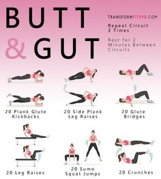 Abs Fitness Butt and Gut Workout for Women