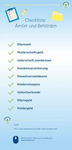 Kaum ist das Baby unterwegs, gibt's eine Menge zu erledigen. Hier unsere prakt… Hardly the baby is on the way, there's a lot to do. Here is our practical checklist. Parental Leave, Baby Bikini, Congratulations Baby, Baby Co, Baby Time, Happy Baby, First Baby, Baby Hacks, Baby Sleep