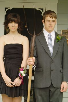 Prom version of American Gothic